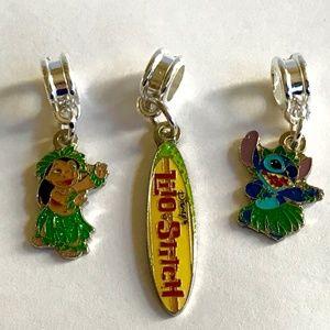 Disney Lilo & Stitch Charms European Bead Retired